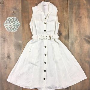 Vintage fit & flare mid length dress belt size 6